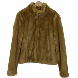 H&M Standing collar faux fur cropped jacket
